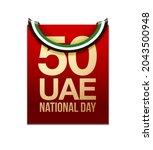fifty uae national day  spirit...   Shutterstock .eps vector #2043500948