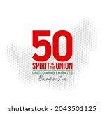 fifty uae national day  spirit...   Shutterstock .eps vector #2043501125
