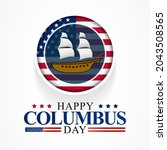 columbus day is observed every... | Shutterstock .eps vector #2043508565