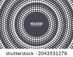 radial hexagonal halftone... | Shutterstock .eps vector #2043531278