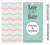 wedding card or invitation | Shutterstock .eps vector #204354718
