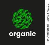 organic logo template. abstract ...   Shutterstock .eps vector #2043576122