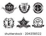 wine labels set | Shutterstock .eps vector #204358522