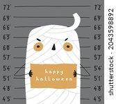 cute halloween vector...   Shutterstock .eps vector #2043598892