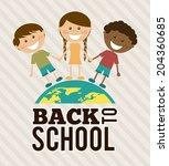 school design over lineal... | Shutterstock .eps vector #204360685