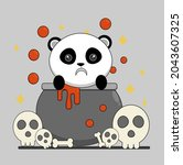 vector character of cute pig in ...   Shutterstock .eps vector #2043607325
