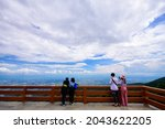 Tourists Enjoy The View Of The...