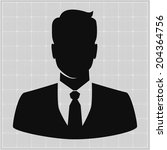 people profile silhouettes.... | Shutterstock .eps vector #204364756