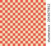 orange gingham seamless pattern.... | Shutterstock .eps vector #2043675812