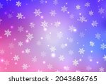 light pink  blue vector pattern ... | Shutterstock .eps vector #2043686765