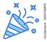 confetti vector blue outline... | Shutterstock .eps vector #2043736895