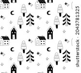 cozy home seamless pattern....   Shutterstock .eps vector #2043781325