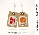 vintage style price tags. | Shutterstock .eps vector #204378532