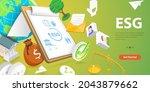 3d conceptual illustration of... | Shutterstock . vector #2043879662