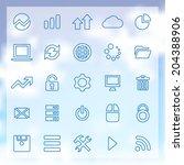 25 outline big data  database... | Shutterstock .eps vector #204388906