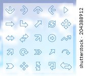 25 outline arrows icons set ...