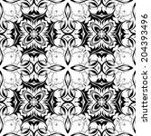 vector damask seamless pattern... | Shutterstock .eps vector #204393496