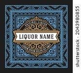 whiskey label with old frames   Shutterstock .eps vector #2043980855