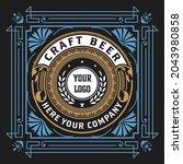 beer label with old frames   Shutterstock .eps vector #2043980858