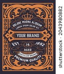 western card with vintage style   Shutterstock .eps vector #2043980882