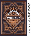 whiskey label with old frames   Shutterstock .eps vector #2043980885