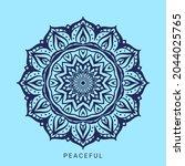 abstract round mandala art...   Shutterstock .eps vector #2044025765