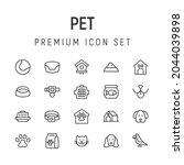 premium pack of pet line icons. ...