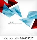 3d futuristic shapes abstract... | Shutterstock . vector #204405898