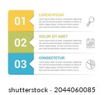infographic template with 3... | Shutterstock .eps vector #2044060085