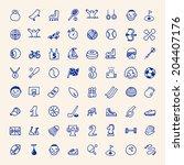 hand drawn simple doodle sport... | Shutterstock .eps vector #204407176