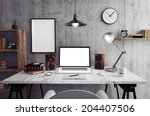 loft workspace | Shutterstock . vector #204407506