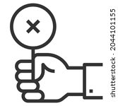 failure line icon logo vector ... | Shutterstock .eps vector #2044101155