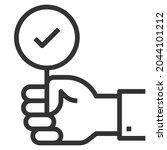 success line icon logo vector . ... | Shutterstock .eps vector #2044101212