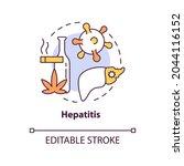 hepatitis concept icon. liver... | Shutterstock .eps vector #2044116152
