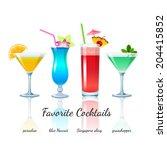 favorite cocktails set isolated.... | Shutterstock .eps vector #204415852