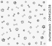 background with dog paw print... | Shutterstock .eps vector #204416158
