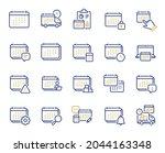calendar line icons. schedule...   Shutterstock .eps vector #2044163348