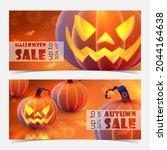 discount banner for autumn ... | Shutterstock .eps vector #2044164638