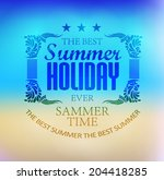 elements for summer holidays... | Shutterstock .eps vector #204418285