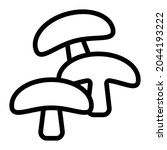 mushroom icon with outline...