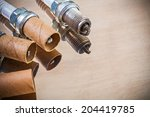 old sparks plugs. a place for... | Shutterstock . vector #204419785