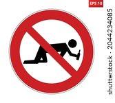no alcohol sign. vector... | Shutterstock .eps vector #2044234085