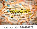 map photography  philadelphia... | Shutterstock . vector #204424222