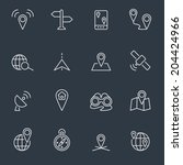 location icons | Shutterstock .eps vector #204424966