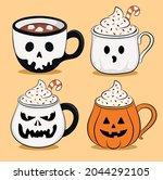 halloween mugs collection... | Shutterstock .eps vector #2044292105