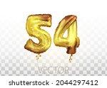 vector golden foil number 54...   Shutterstock .eps vector #2044297412