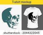 graphic t shirt design skull ... | Shutterstock .eps vector #2044322045