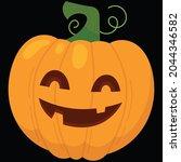 halloween pumpkin icon vector... | Shutterstock .eps vector #2044346582