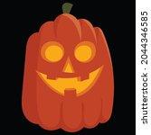 halloween pumpkin icon vector... | Shutterstock .eps vector #2044346585