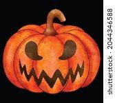 halloween pumpkin icon vector... | Shutterstock .eps vector #2044346588